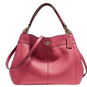 Coach Edie Lexy Rouge Pink Leather purse